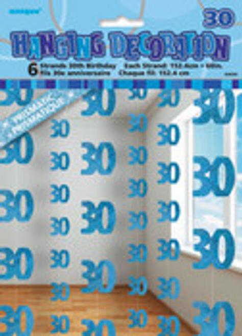GLITZ BLUE 6 HANG DECO 5ft -30