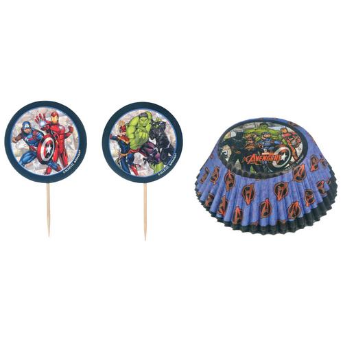 Marvel Powers Unite Cupcake Cases & Picks