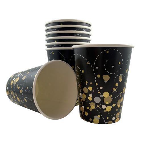 SPARKFIZZ BLACK & GOLD 9oz CUP P8