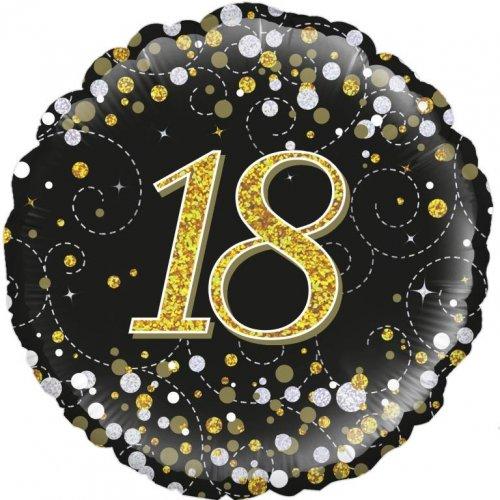 "18"" SPARKLING FIZZ BLACK 18"