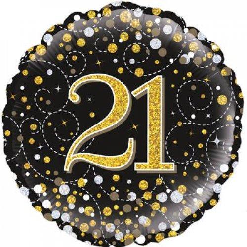 "18"" SPARKLING FIZZ BLACK 21"