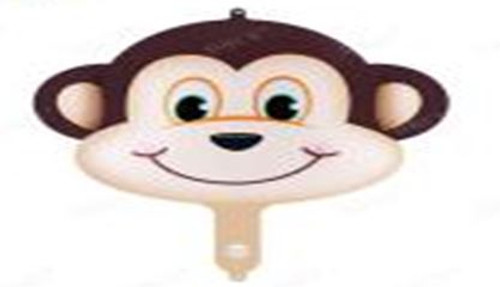 Monkey Head Foil Balloon 70cm x 88cm