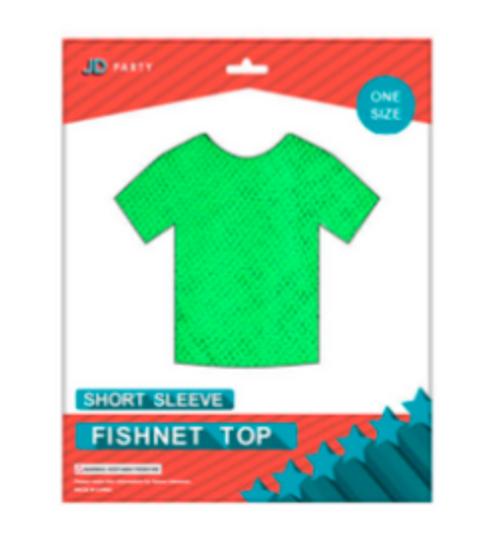 Fishnet Top (Short Sleeve) Green