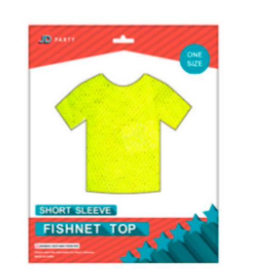 Fishnet Top (Short Sleeve) Yellow