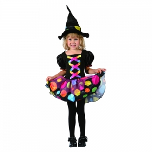 TODDLER PRETTY WITCH , DRESS , HAT