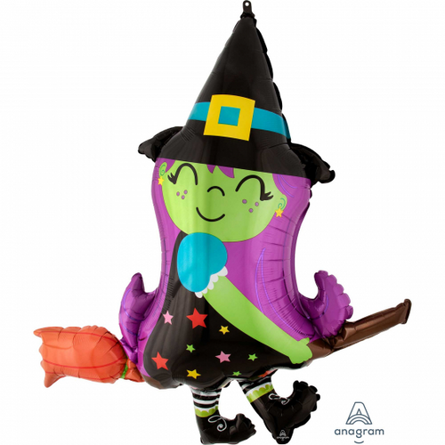 SS Cute Witch On Broom P35