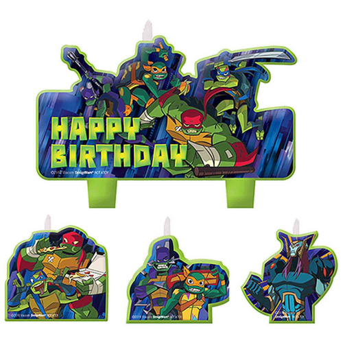 Rise of the TMNT BDAY Candle Set