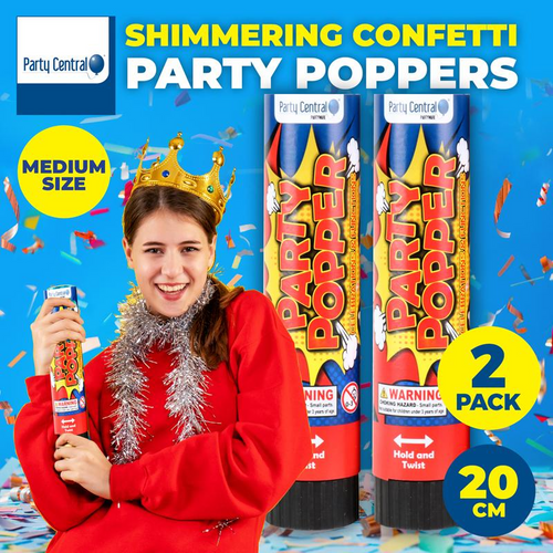 Party Popper 20cm 2pk