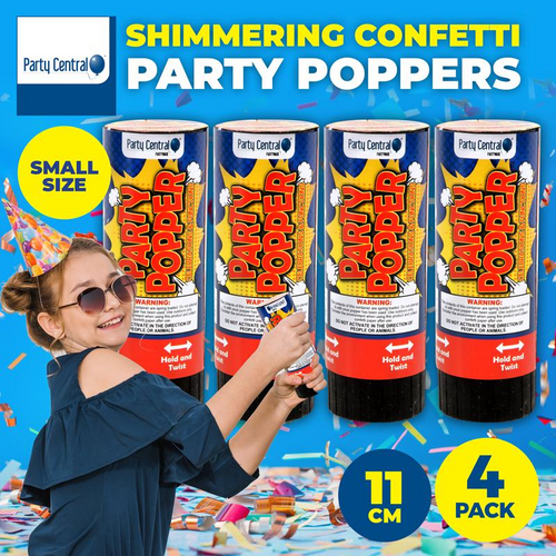 Party Popper 11cm 4pk