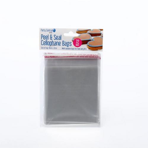 Premium Peel & Seal Cellophane Bags - 16cm x 12cm 72pk