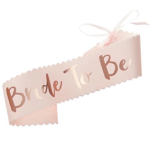 GR Pink & Rose Gold Sash Bride -to Be