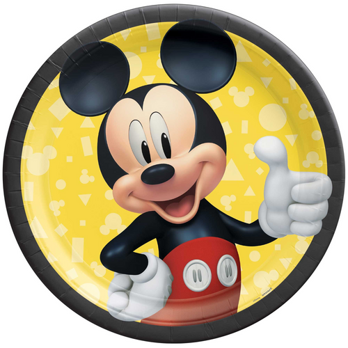 Mickey Forever 9in/23cm Rnd Plate