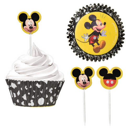 Mickey Forever H-S Cupcake Cases & Picks Combo