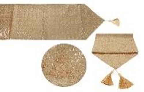 SEQUIN XMAS TABLE RUNNER  150CM x 33CM GOLD