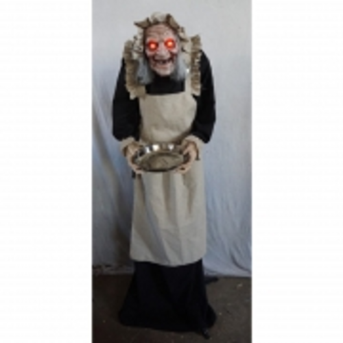 HWEEN STANDING OLD LADY TRICK-OR-TREAT