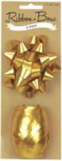 RIBB & BOW STAR & EGG GOLD