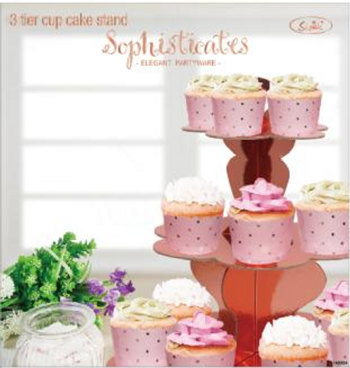 *ROSE GOLD 3 TIER CUP CAKE STAND