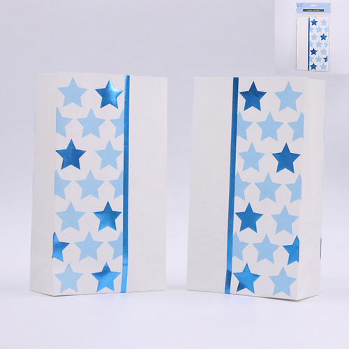 *BLUE SKY STAR PARTY LOOT BAGS PK6