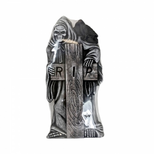 GRIM REAPER TOMBSTONE WITH RIP ON CROSS 890X430X40CM