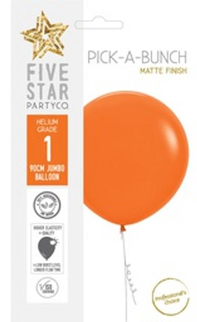 Matte Orange 90cm Balloon 1pk