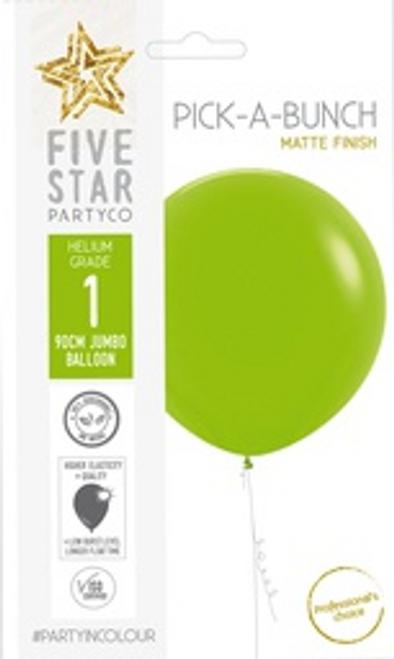 Matte Lime Green 90cm Balloon 1pk