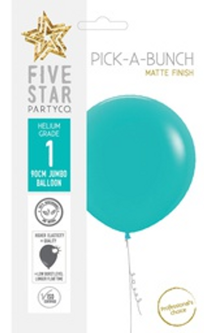 Matte Aquamarine 90cm Balloon 1pk