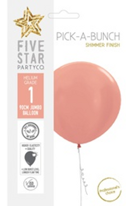 Shimmer Rose Gold 90cm Balloon 1pk