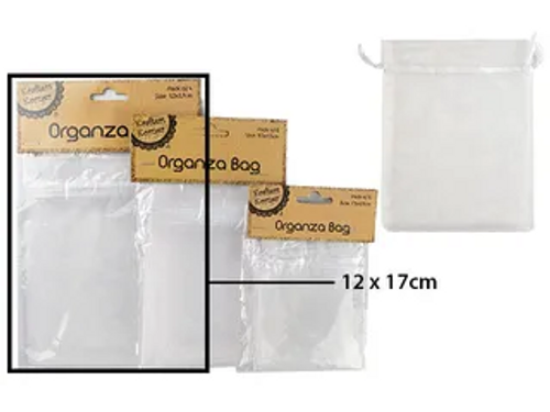 12*17CM ORGANZA BAG - WHITE/4