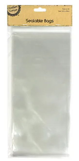 PACK/20 SEALABLE CLEAR BAG