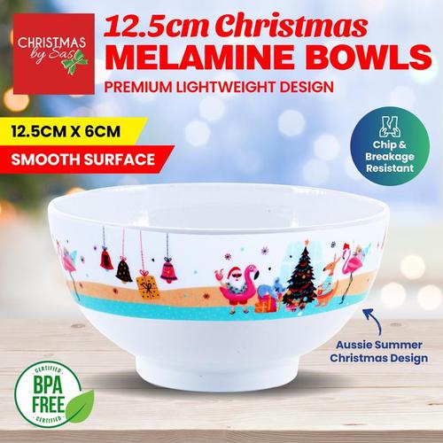 Melamine Bowl Christmas 13.5cm x 6cm