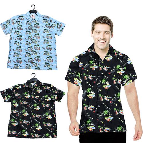 Shirt Hawaiian Christmas Adults 3 Assorted Designs 3 Sizes: M, L & XL