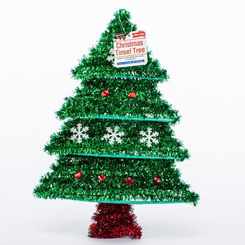 Tinsel Decoration Tree 24cm x 35cm