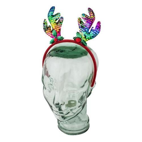 Headband Antler Reversible Sequence Multi-Colour