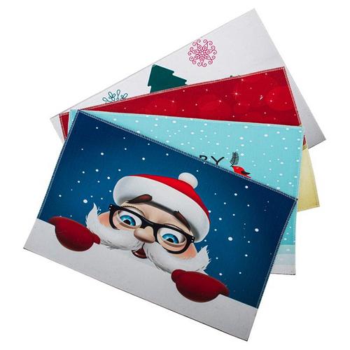 Doormat Christmas Non Slip 38cm x 58cm 4 Assorted Designs