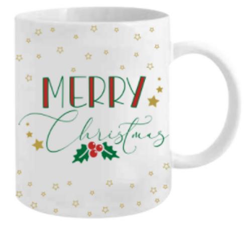 MERRY CHRISTMAS MUG 12OZ