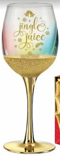 JINGLE JUICE WINE GLASS 430ML