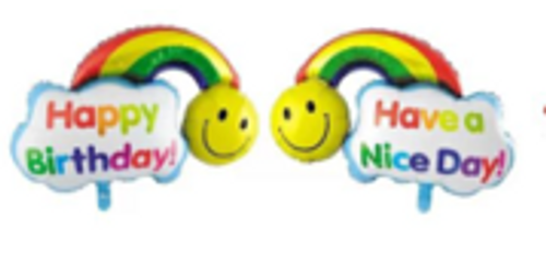 98 x 65cm Happy Birthday Rainbow (CY-C096)