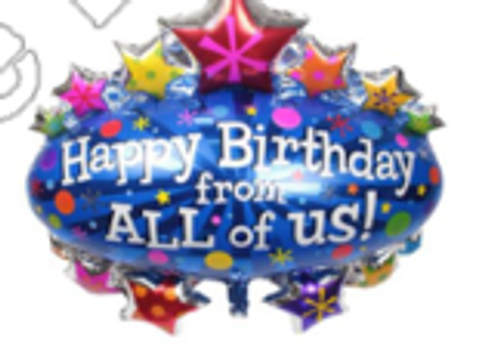 79 x 71cm Happy Birthday From All Marquee (CY-C0131)