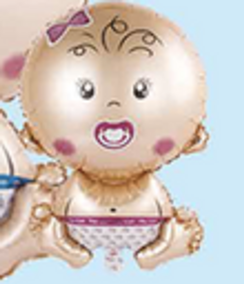 "19"" x 28"" Baby Girl Pink (LKBSF179)"
