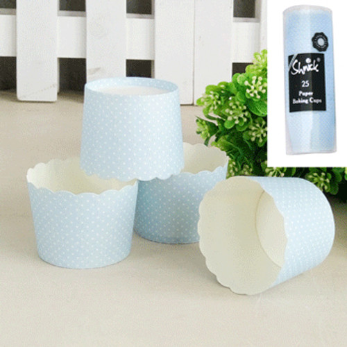 * 25pk Mini Dotty Baking Cups - BLUE