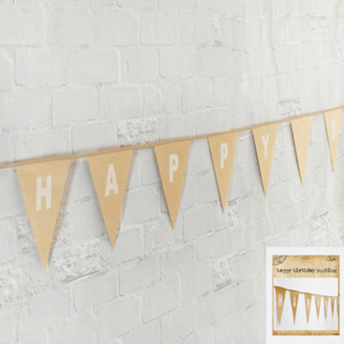 *Happy Birthday Bunting in Brown Paper