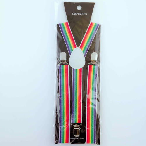 Suspender (Rainbow) Vertical Stripe
