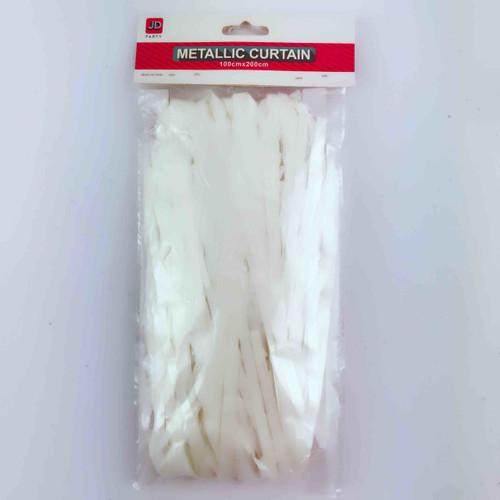 Metallic Curtain (White)