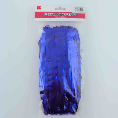 Metallic Curtain (Blue)
