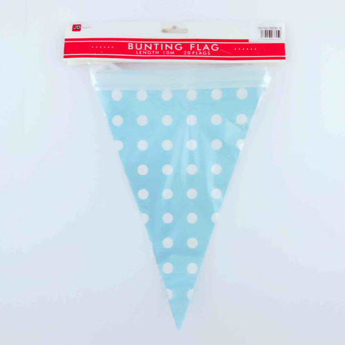 Bunting Flag (20pcs) (Dot Blue)