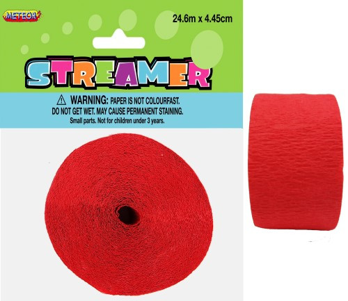 CREPE STREAMER - RUBY RED