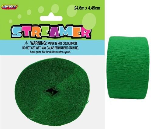CREPE STREAMER - EMERALD GREEN
