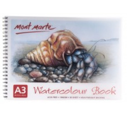 M.M. Watercolour Book 190gsm A3 (MSB0011)