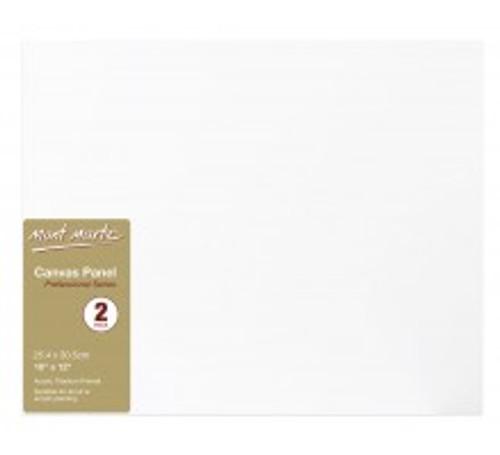 M.M. Canvas Panels Pkt 2 25.4x30.5cm (CMPL2530)