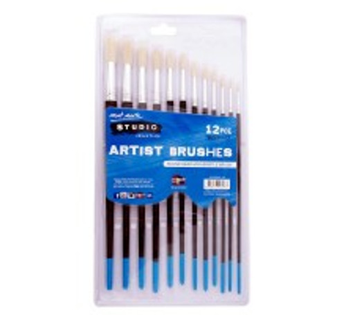 M.M. Studio Artist Brushes 12pce Round 1-12 (BMSS0003)